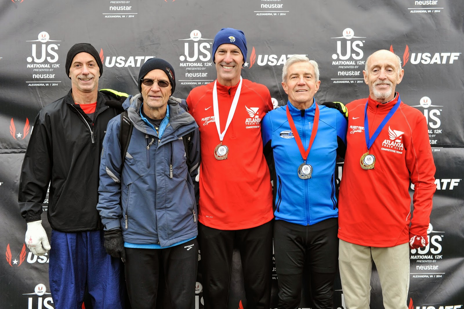 The Running Professor November 2014 Richard 4847 Ttec Automotive Electronics Us Nationals 12 K Championship In Alexandria Virginia On 16 From Left Eric Stuber 5th Rick Becker 4th Ken Youngers 3rd Doug Goodhue 2nd