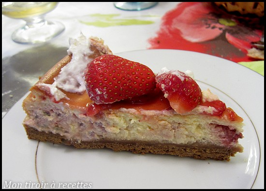 chesecake aux fraises