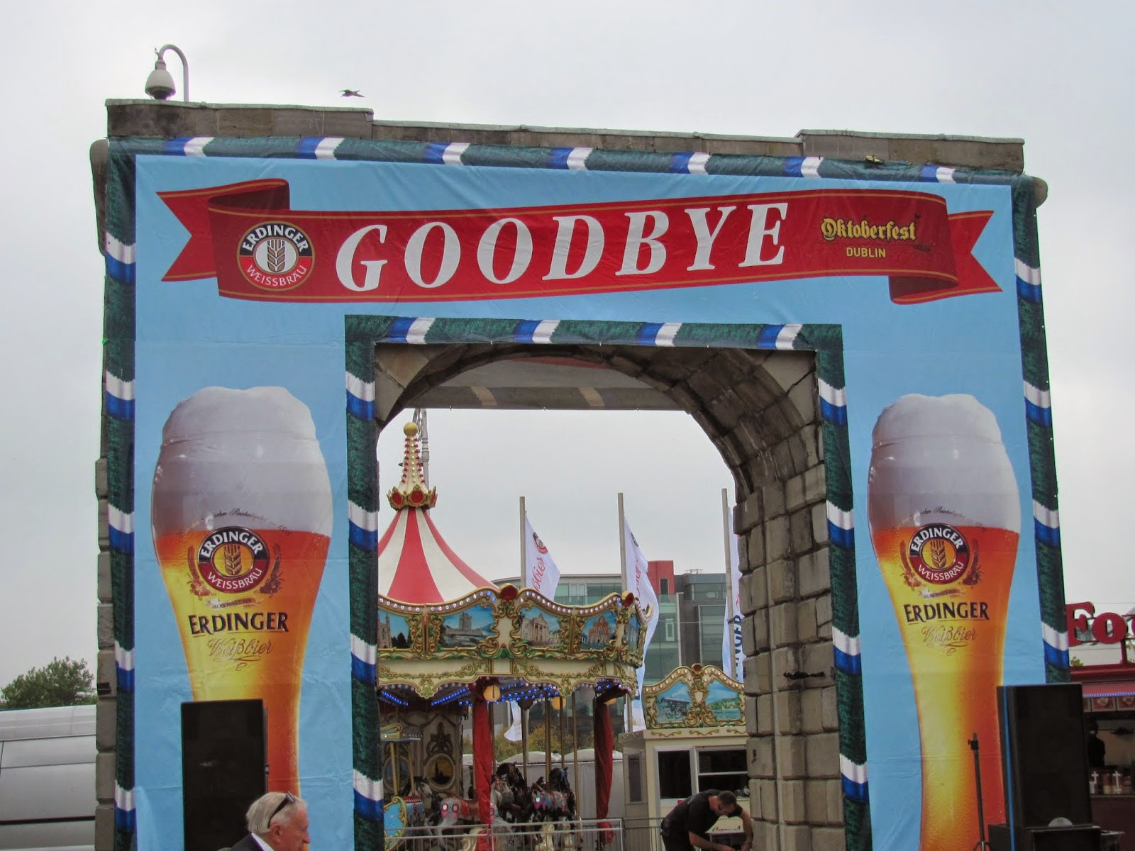 George's Dock Arch Decorated for Oktoberfest 2014