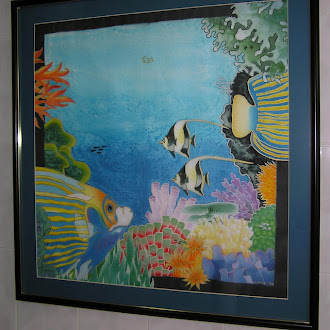 My Tropical Fish Silk Painting