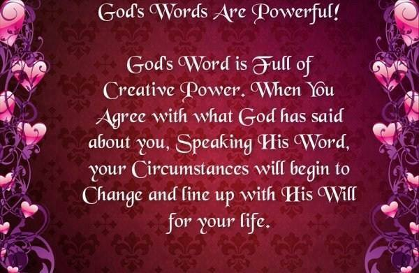 God's Words Are Powerful!