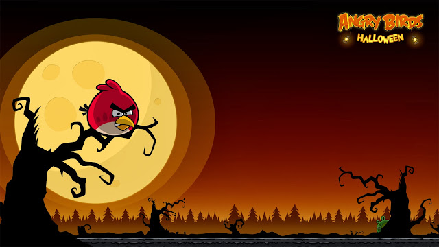 Angry Birds Seasons Halloween Wallpaper