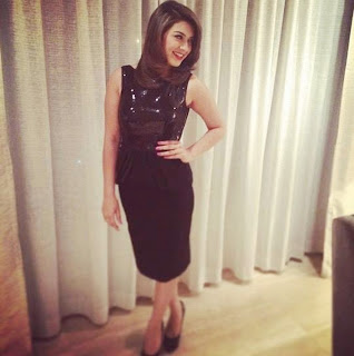 Actress Hansika Motwani Latest Pictures in Black Dress at iphone 6 Launch  19
