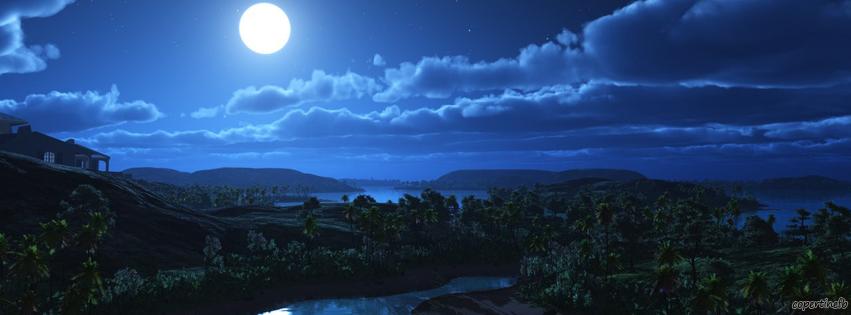 Copertine facebook villaggio al chiaro di luna - Il giardino al chiaro di luna ...