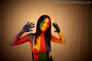 Pintando emociones. Audiovisual sobre el maquillaje corporal o body painting. Colores y emociones.