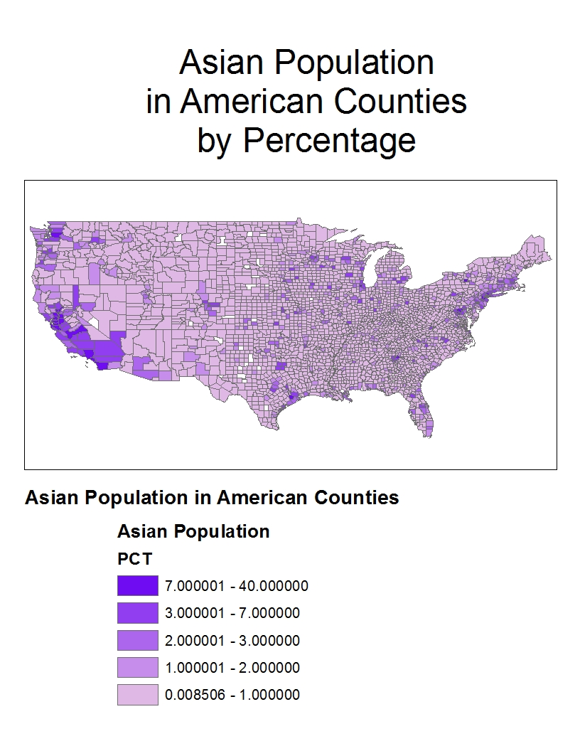 the asian american population during the year 2000 was mainly clustered in california and washington this is reasonable because these states are in the