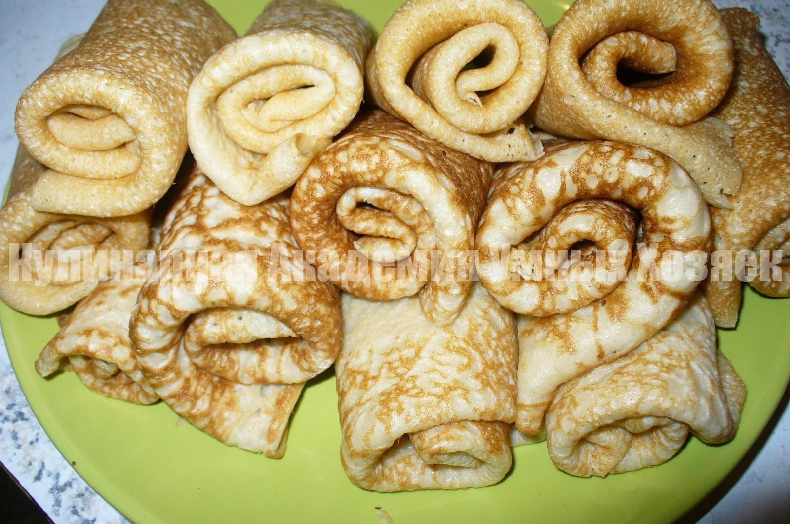 Блинчики на кефире с фаршем рецепт пошагово