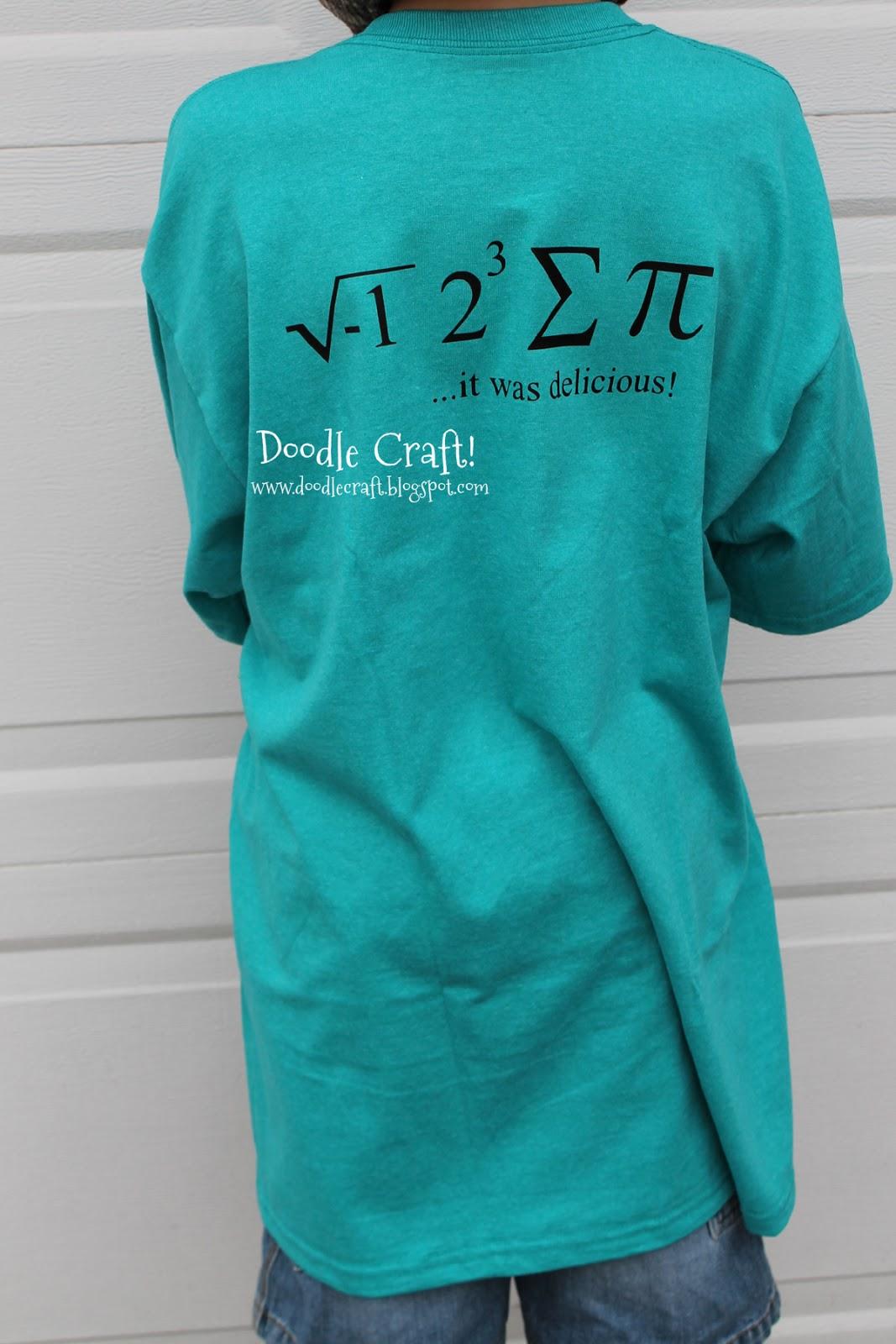 doodlecraft national pi day funny math geek shirt