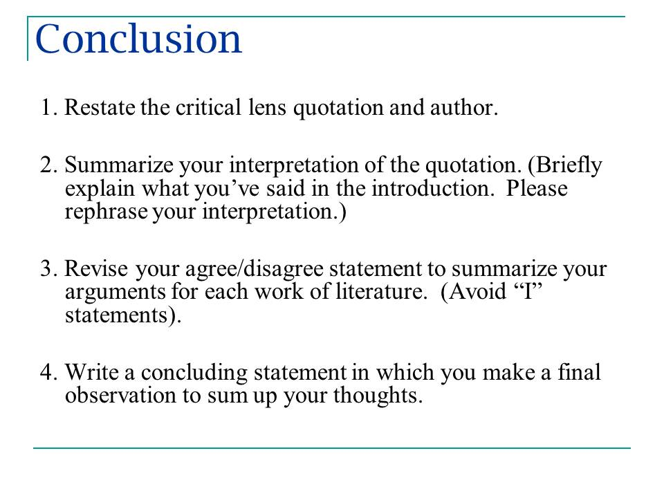 write conclusion definition essay