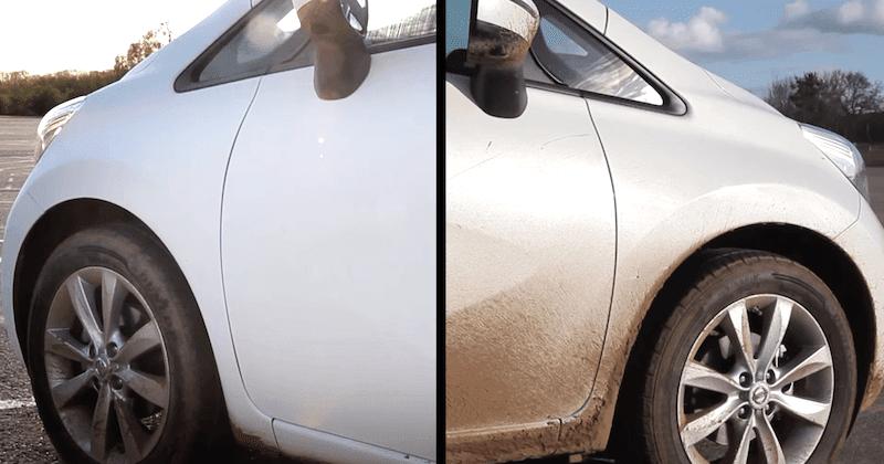 ついに洗車が不要に?日産が革新的な特殊コーティングをテスト中!