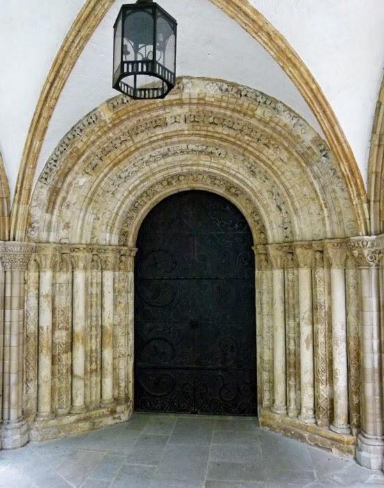 Temple church, west door