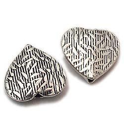 Betel Sterling Silver Flat  Beads