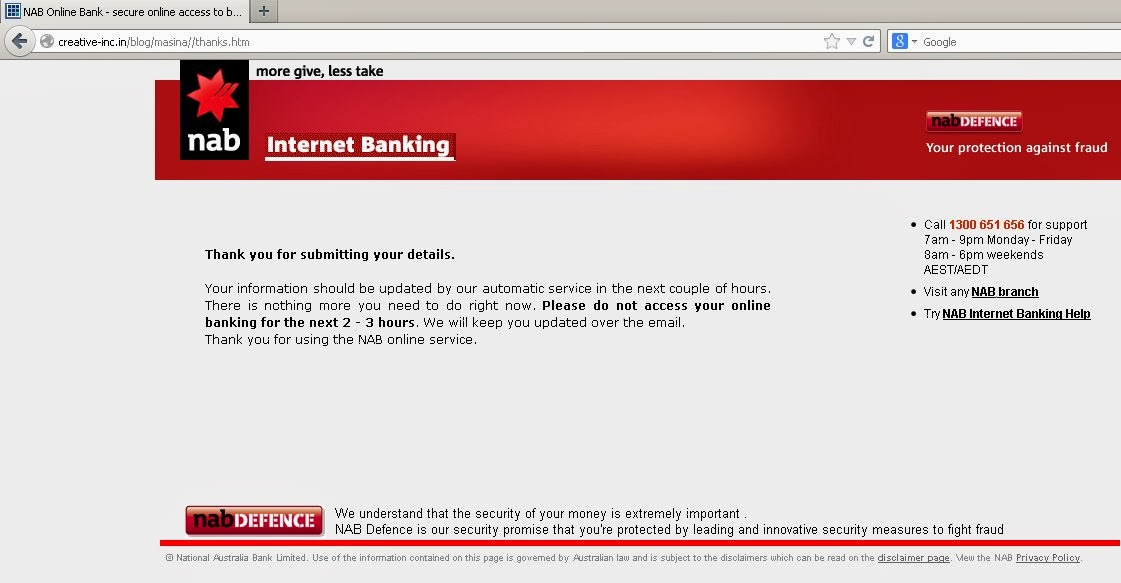 national australia bank internet banking login