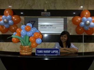 balon bunga, mandiri bank