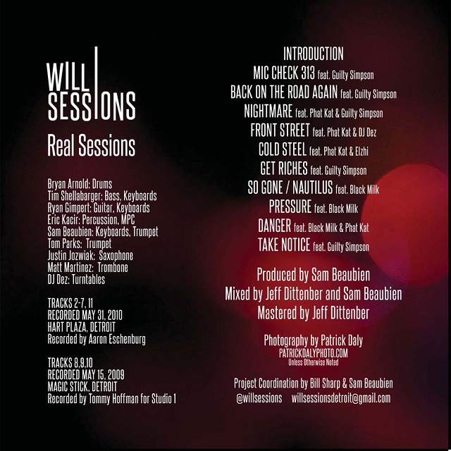 RS back Will Sessions   Real Sessions (Mixtape Download)