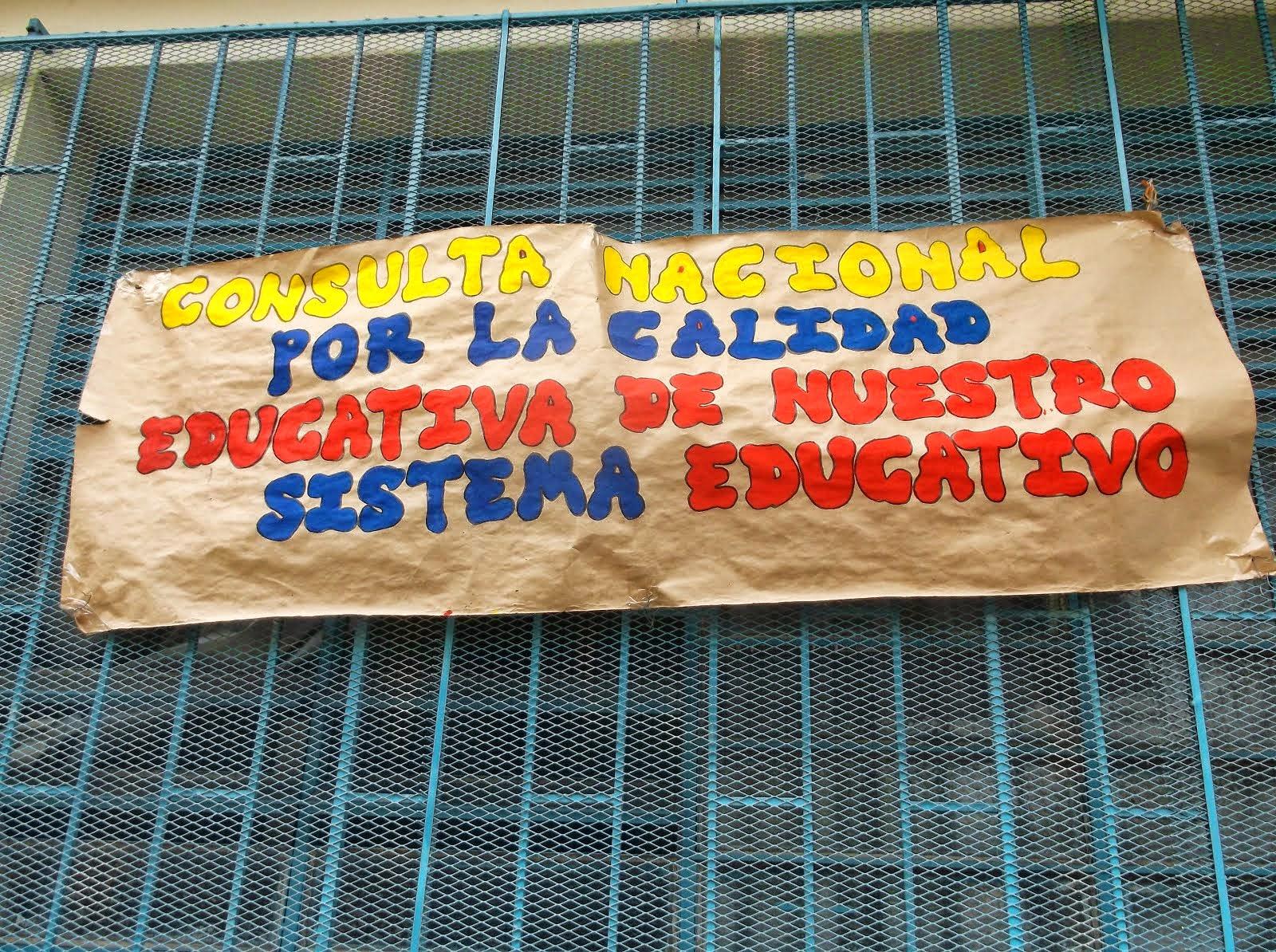 CONSULTA POR LA CALIDAD EDUCATIVA