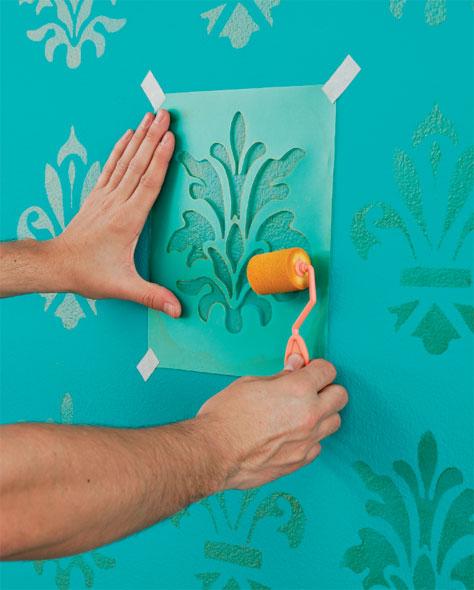 V mo l em casa como fazer stencil para decora o de - Pinturas para paredes ...