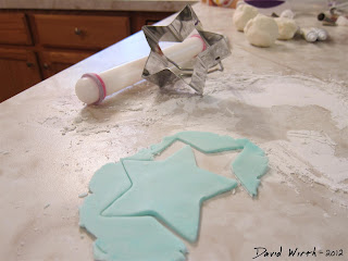 cookie cutter, fondant, shape, star, blue, cake decorate
