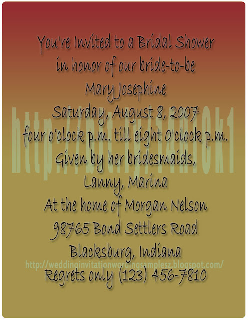 shower invitation and wedding shower invitation wording
