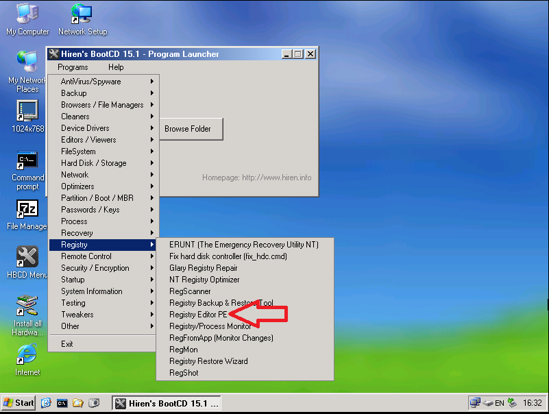 r0cket's malware blog: Using Hiren's BootCD for Remote Support