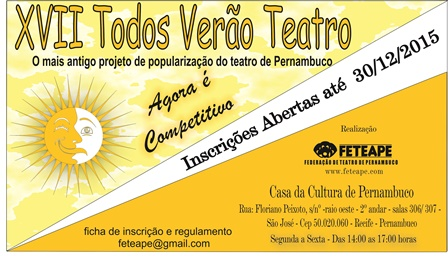FETEAPE apresenta XVII Todos Verão Teatro