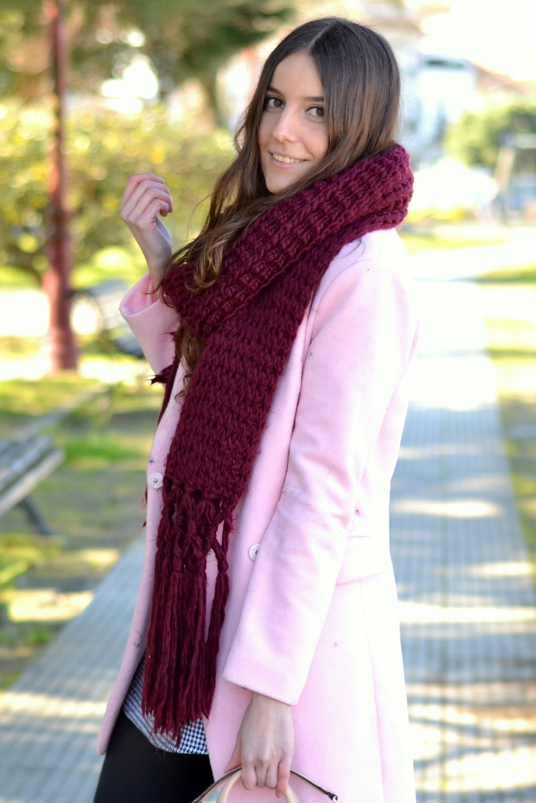 choies pink coat, sheinside