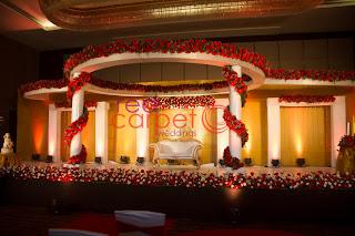 Luxury wedding stage decor at crowne plaza hotel cochin
