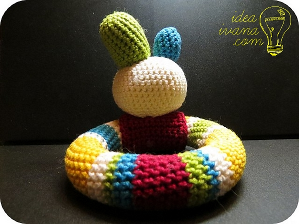baby loop rattle crochet pattern free