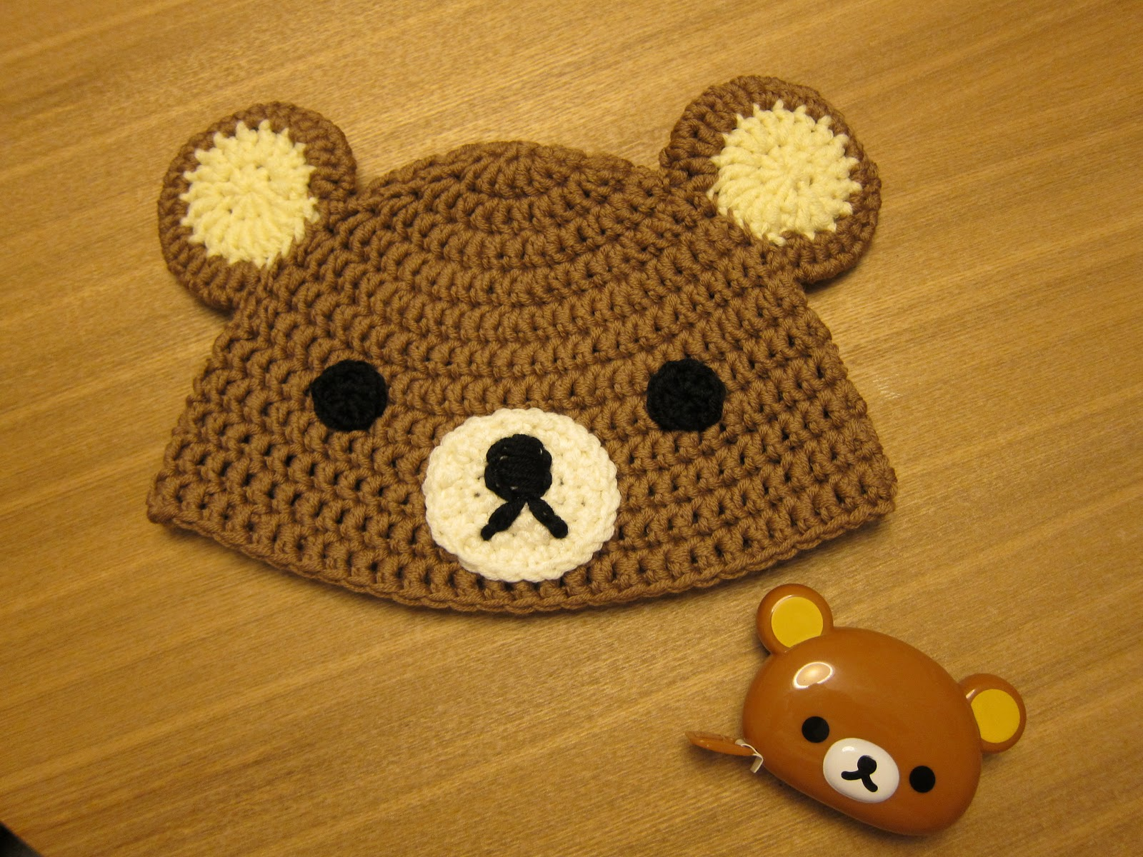 Crocheting Rilakkuma hat | Follow me and see if I success in the ...