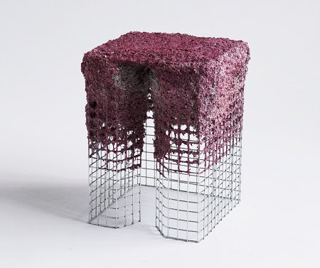 Muebles con papel mache reciclado - Muebles de papel ...