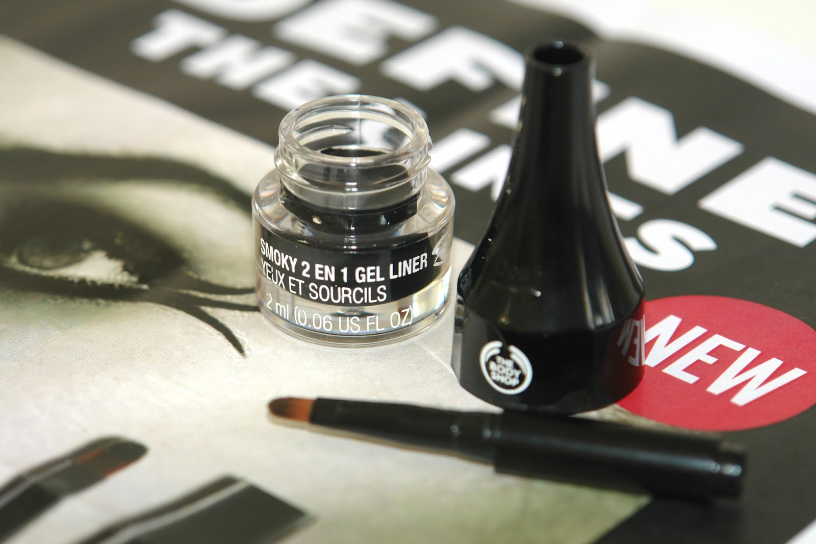 The Body Shop Eyes and Brows Gel Liner, beauty, eye liner, make up, review, The Body Shop, swatches, UK blog, blogger, The Body Shop Smoky 2 in 1 Gel Liner
