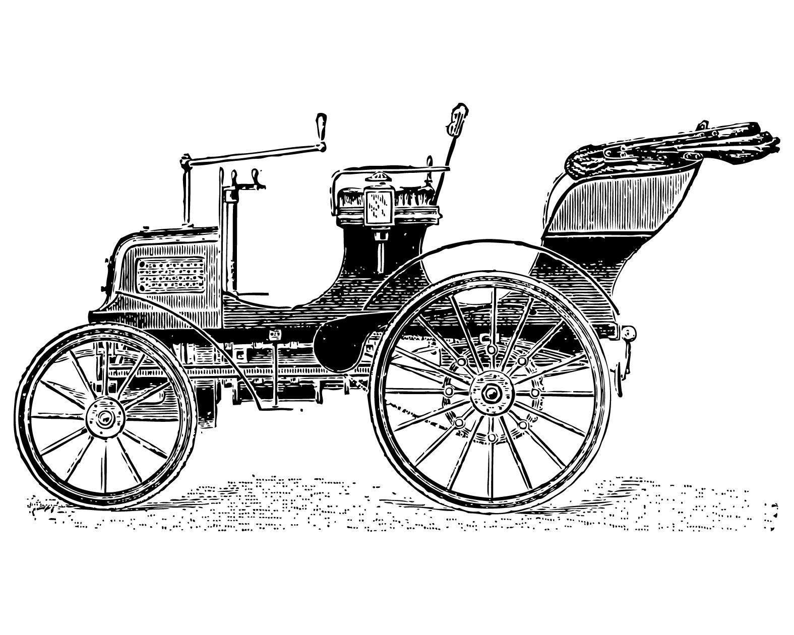 Free vintage clip art images vintage cars and coaches for Car carriage