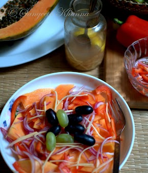 Papaya salad that helps in getting a good skin and more | improving gut flora..