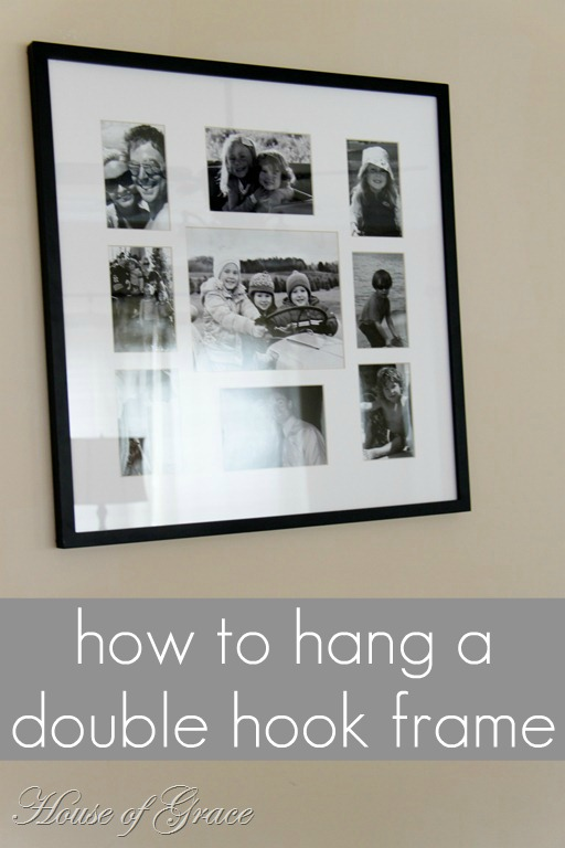 An Easy Way to Hang a Double Hook Frame | Bonnie Donahue