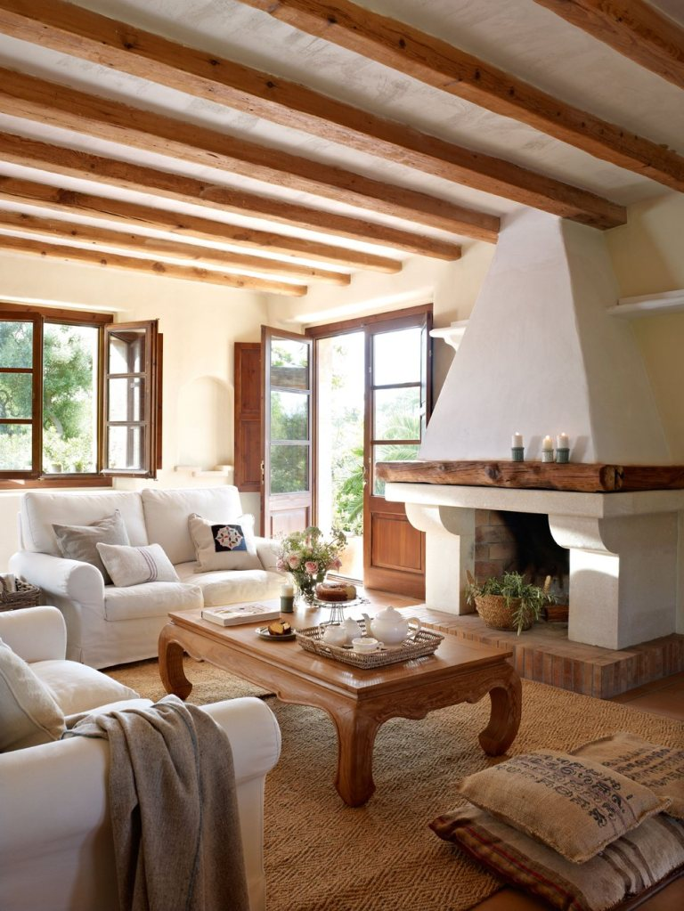 Ev dekorasyon hob oturma odas tasar m fikirleri - Salones de casas rusticas ...