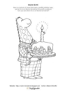 Uncle Girth - Ingrid Sylvestre - Giraffe Colouring Pictures