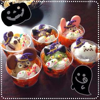 Happy Helloween! Es Krim Berkostum Halloween di Jepang. .Yummy