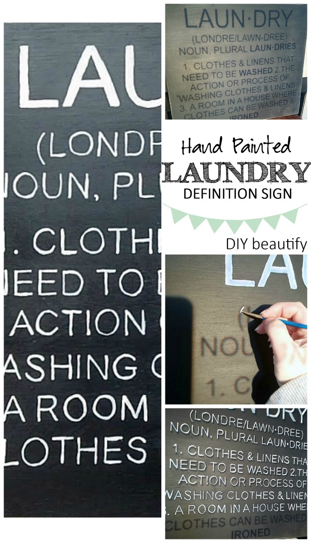 Hand Painted Laundry Room Definition Sign DIY beautify