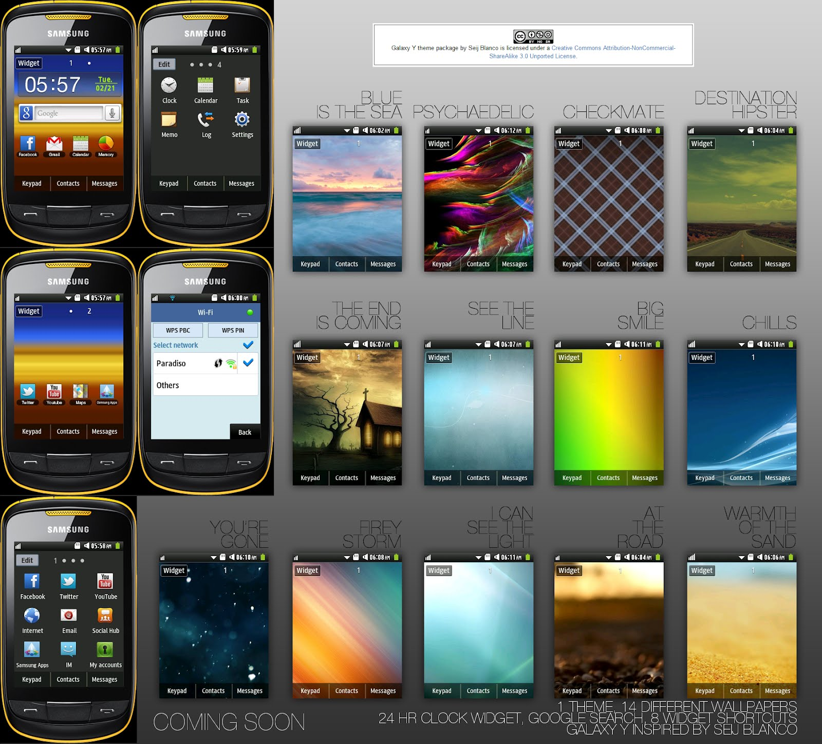 Samsung Corby 2 Theme: Samsung Galaxy Y Package by Seij Blanco