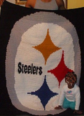 Crochet steelers throw pattern