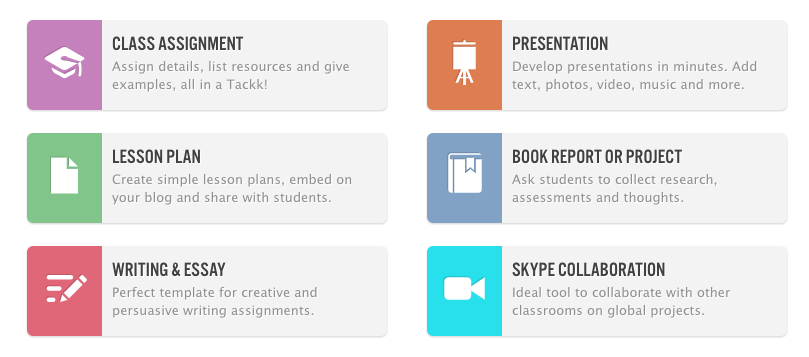 Tackk - Create Webpages for Announcements, Assignments, and Digital Portfolios