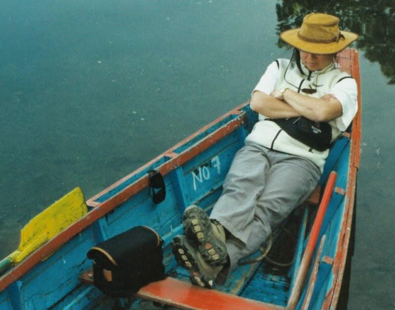 Deb in boat