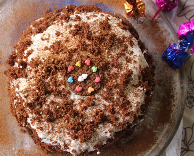 Black Forest Cakehappy Birthday Ribbons To Pastas