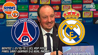 Rafa Benítez rueda de prensa post-partido París Saint-Germain vs. Real Madrid