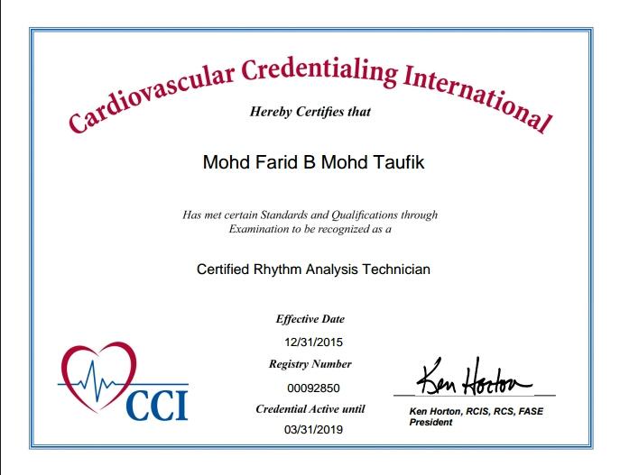 Certified Rhythm Analysis Technician (CRAT)