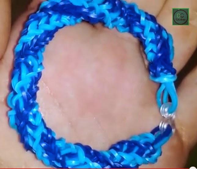 Cómo hacer una pulsera de gomas tipo fishtail o cola de pescado espiral