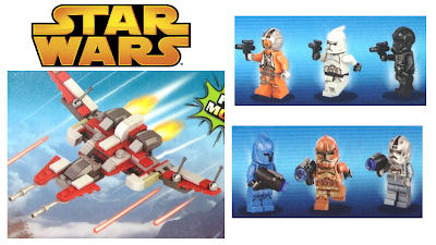 Star Wars Minifigures, Robots, and Spaceship