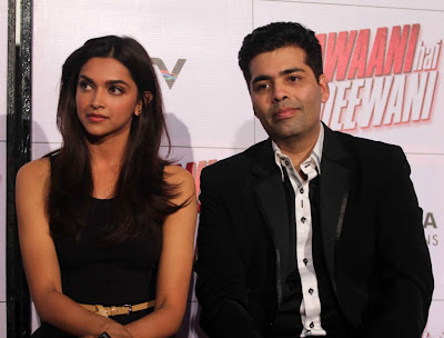 Deepika, Ranbir and Karan at Trailer launch of 'Yeh Jawaani Hai Deewani'