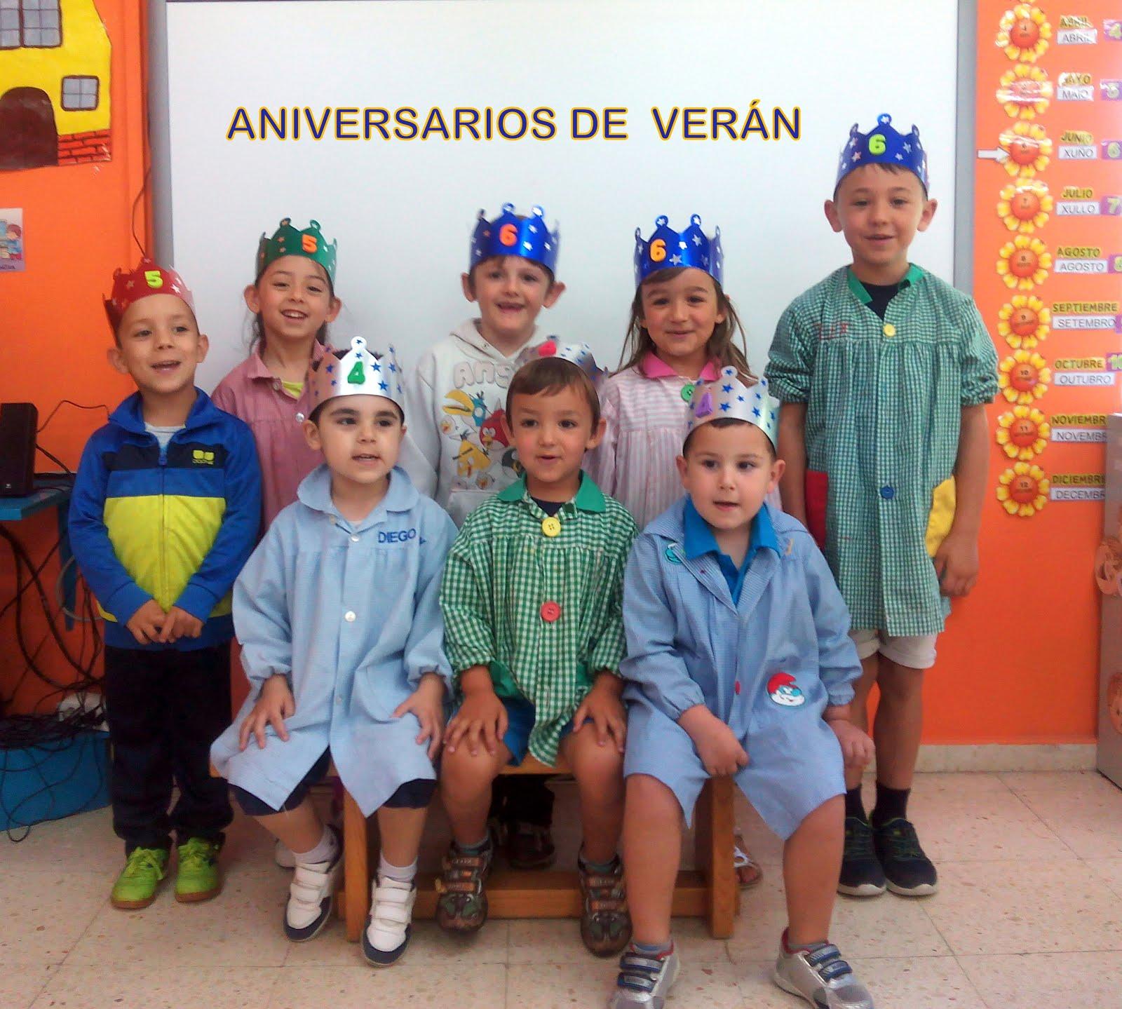 ANIVERSARIOS DE VERÁN