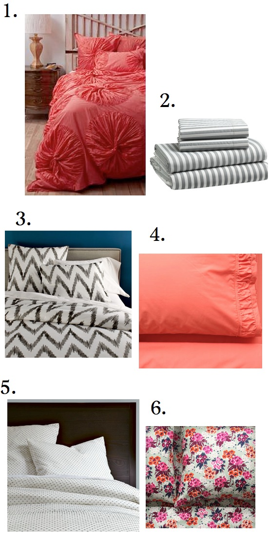 Sheet Sets In Coral | Decoration Empire